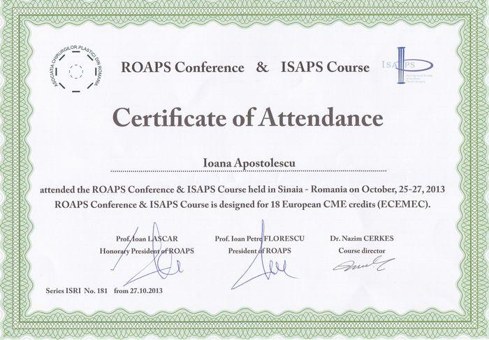 Diploma ISAPS